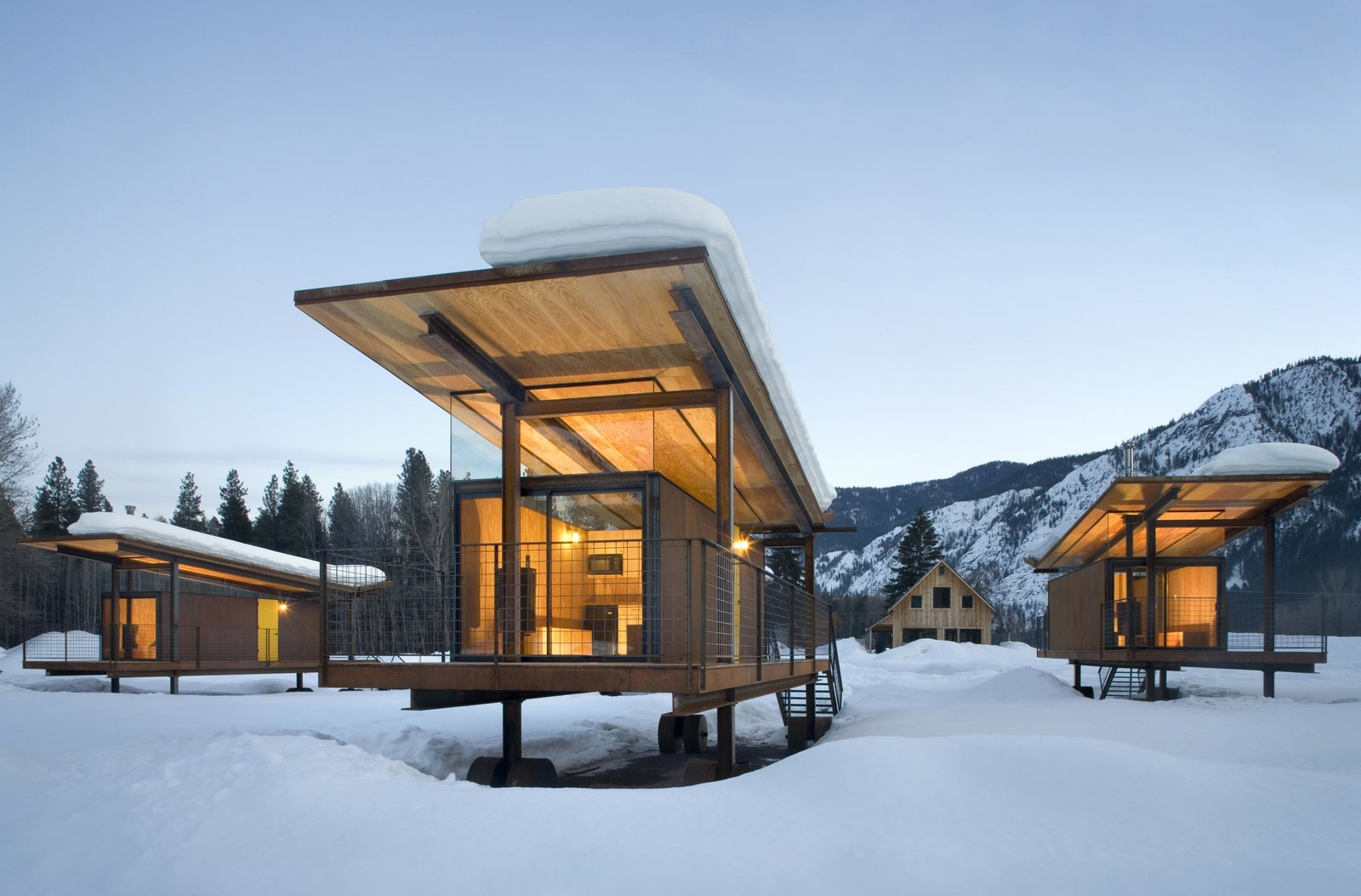 Exterior and Cabin Building Type Rolling Huts | Olson Kundig  Rolling Huts by Olson Kundig