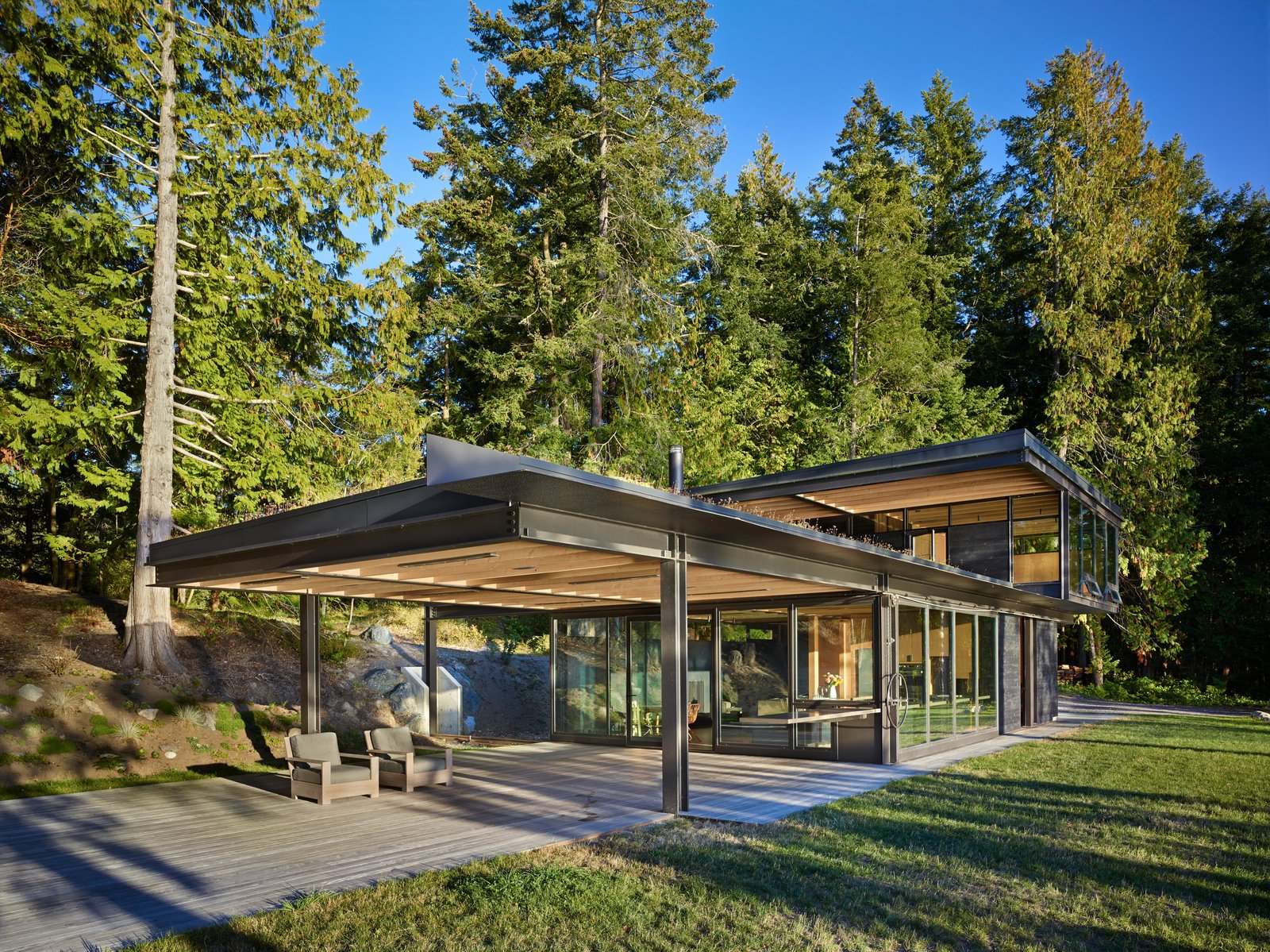 Exterior, Cabin Building Type, and House Building Type Pole Pass Retreat | Olson Kundig  Pole Pass Retreat by Olson Kundig