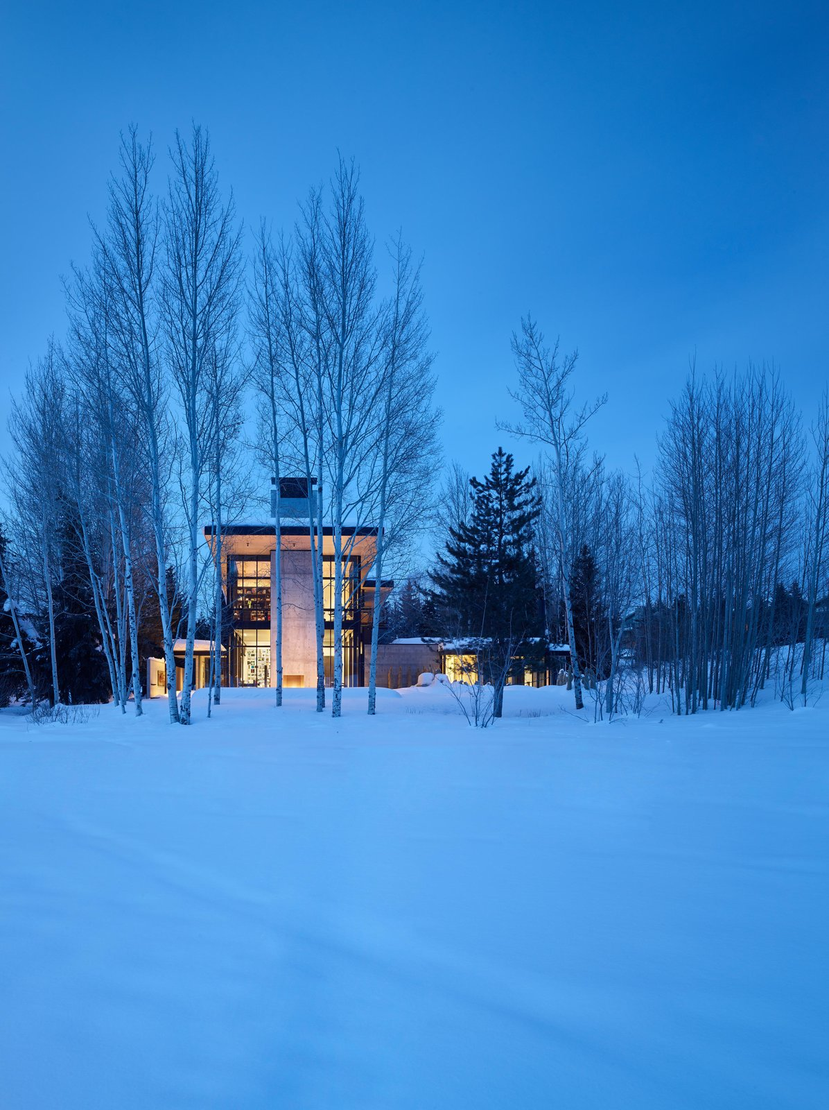 Exterior, Concrete Siding Material, and House Building Type Stirrup House | Olson Kundig  Best Photos from Stirrup House