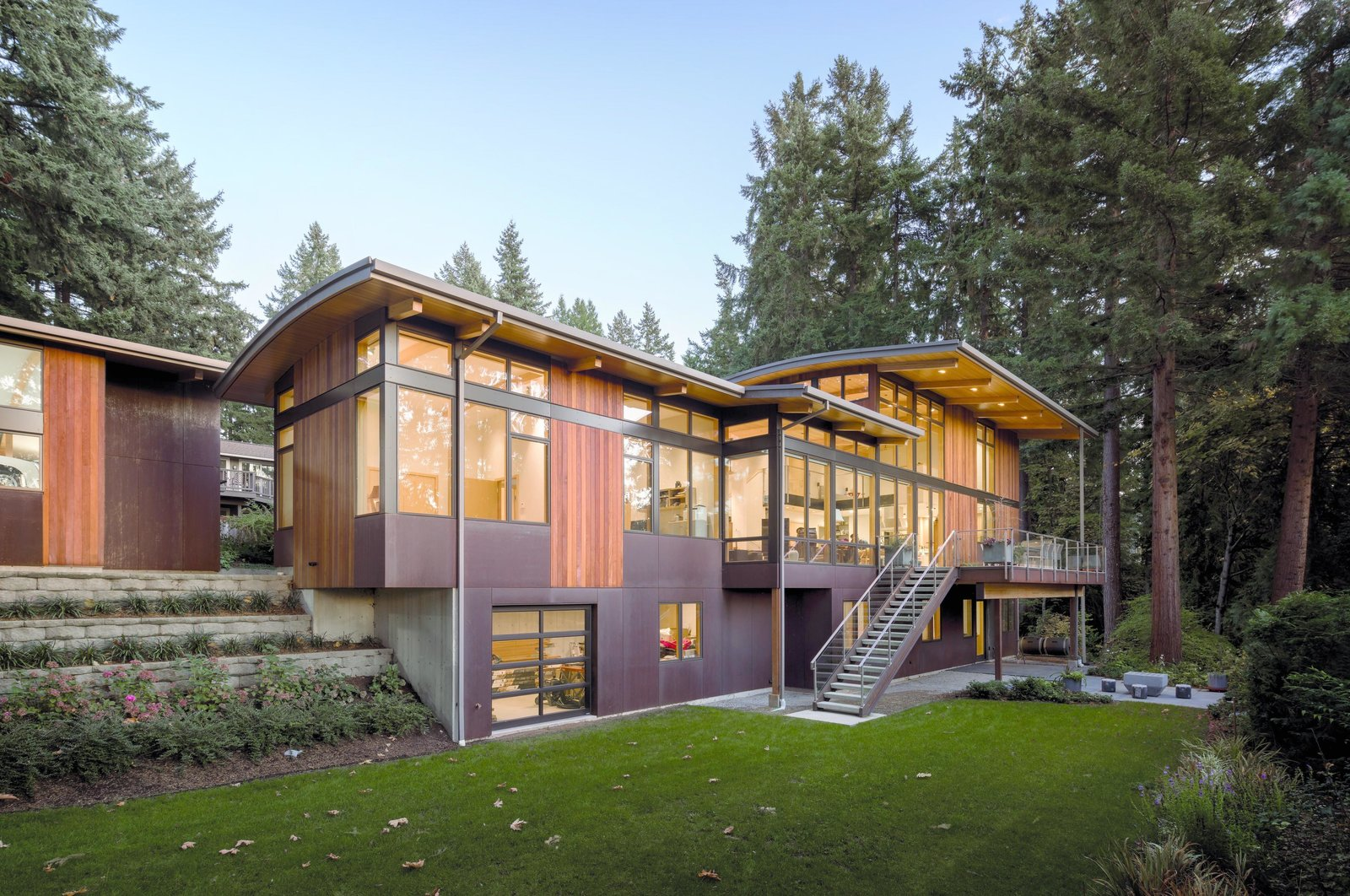 Exterior, House Building Type, and Curved RoofLine Wave House | Olson Kundig  Wave House by Olson Kundig