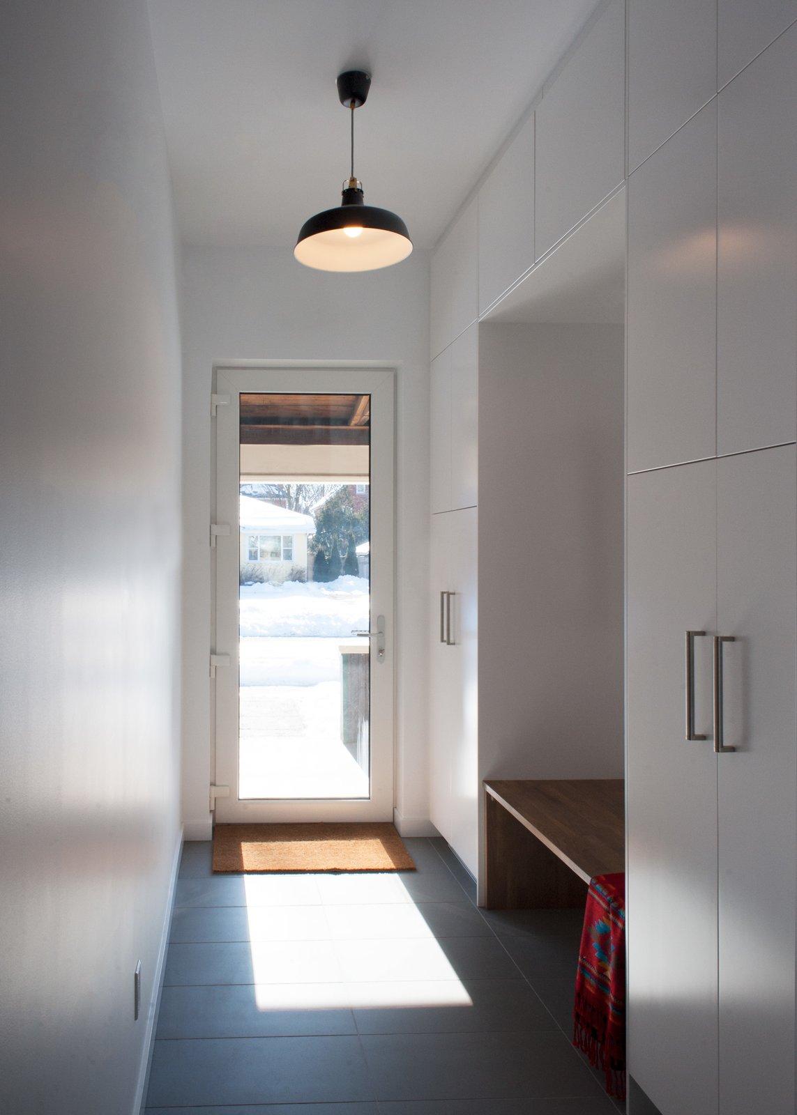 Slate Floor, Ceiling Lighting, Pendant Lighting, Doors, and Exterior Guelph Deep Energy Retrofit - Front Foyer  Best Photos from Guelph Deep Energy Retrofit