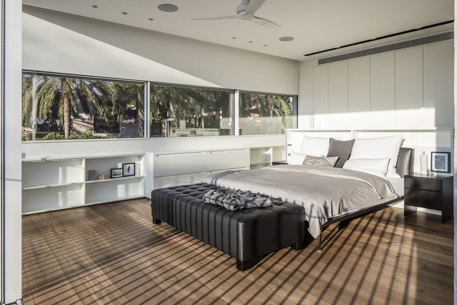 View of the master bedroom  The Dual House by Axelrod Architects