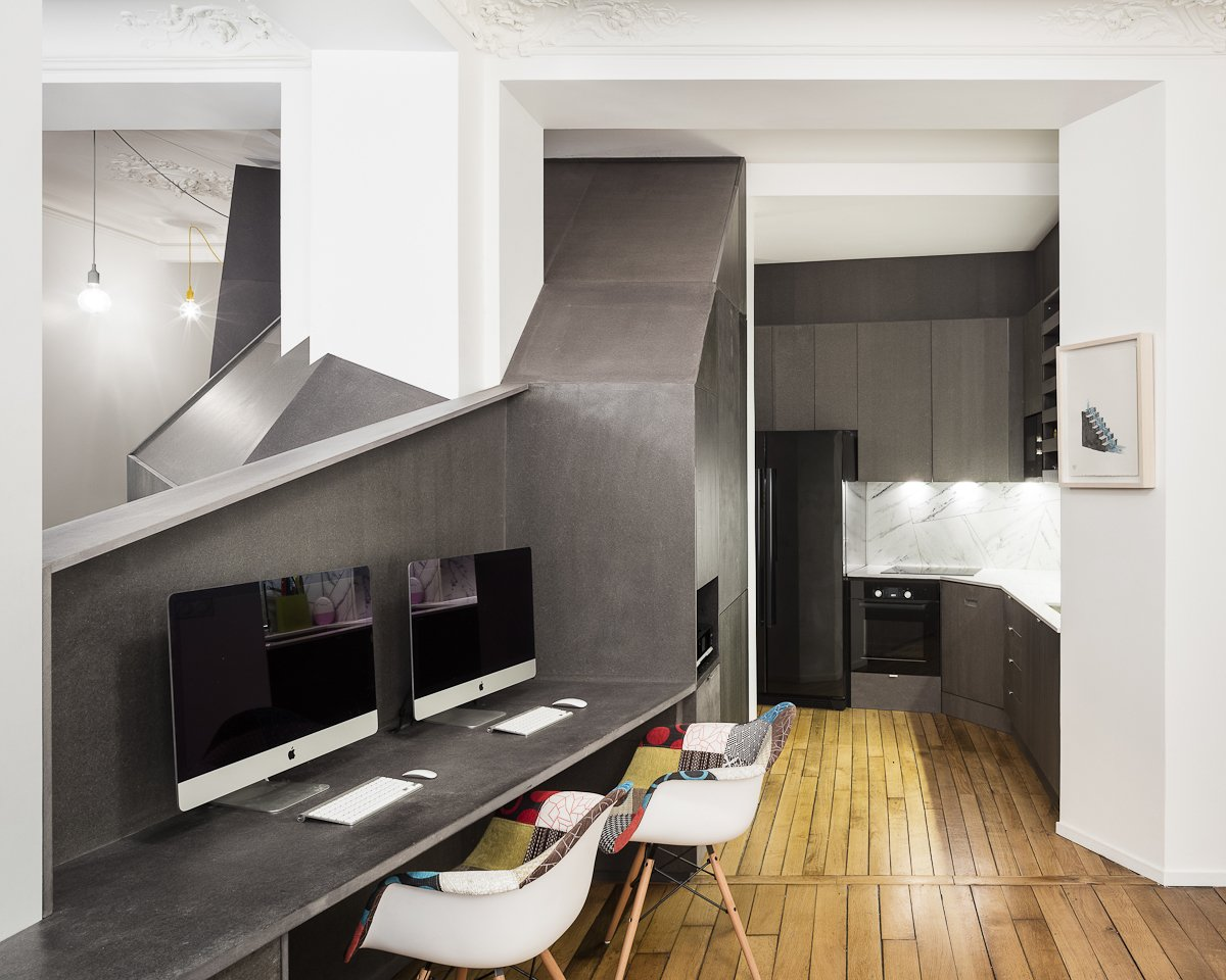 Living / office / dining  Apartment XIV by studio razavi architecture