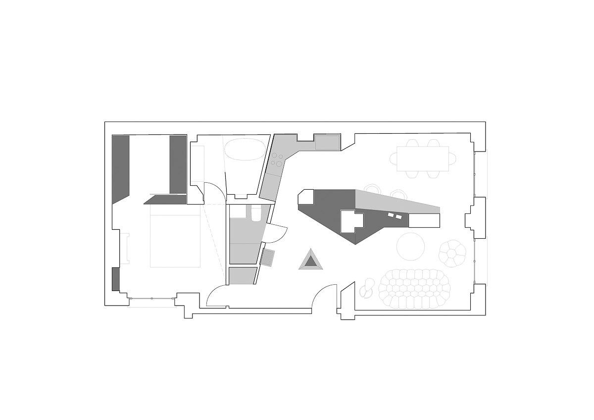 Floor plan  Apartment XIV by studio razavi architecture