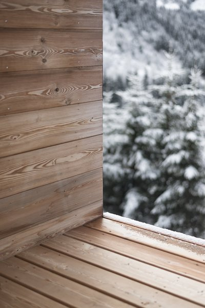 Outdoor and Wood Patio, Porch, Deck Terrace detail  Mountain House