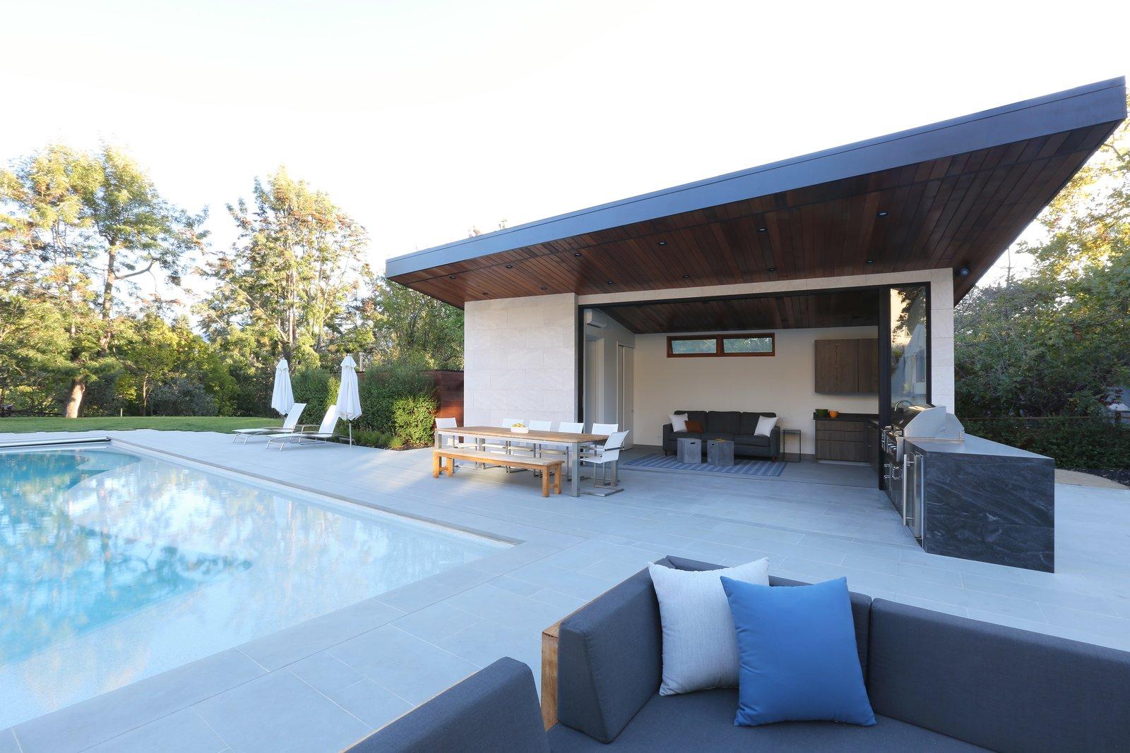 Pool & Pool House  Los Altos Hills Landscape by Greenblott Design