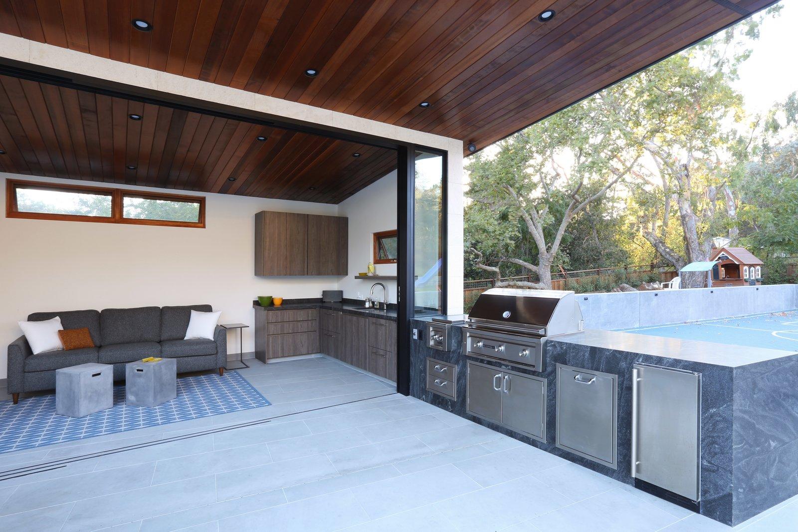 Indoor Outdoor Kitchen  Los Altos Hills Landscape by Greenblott Design
