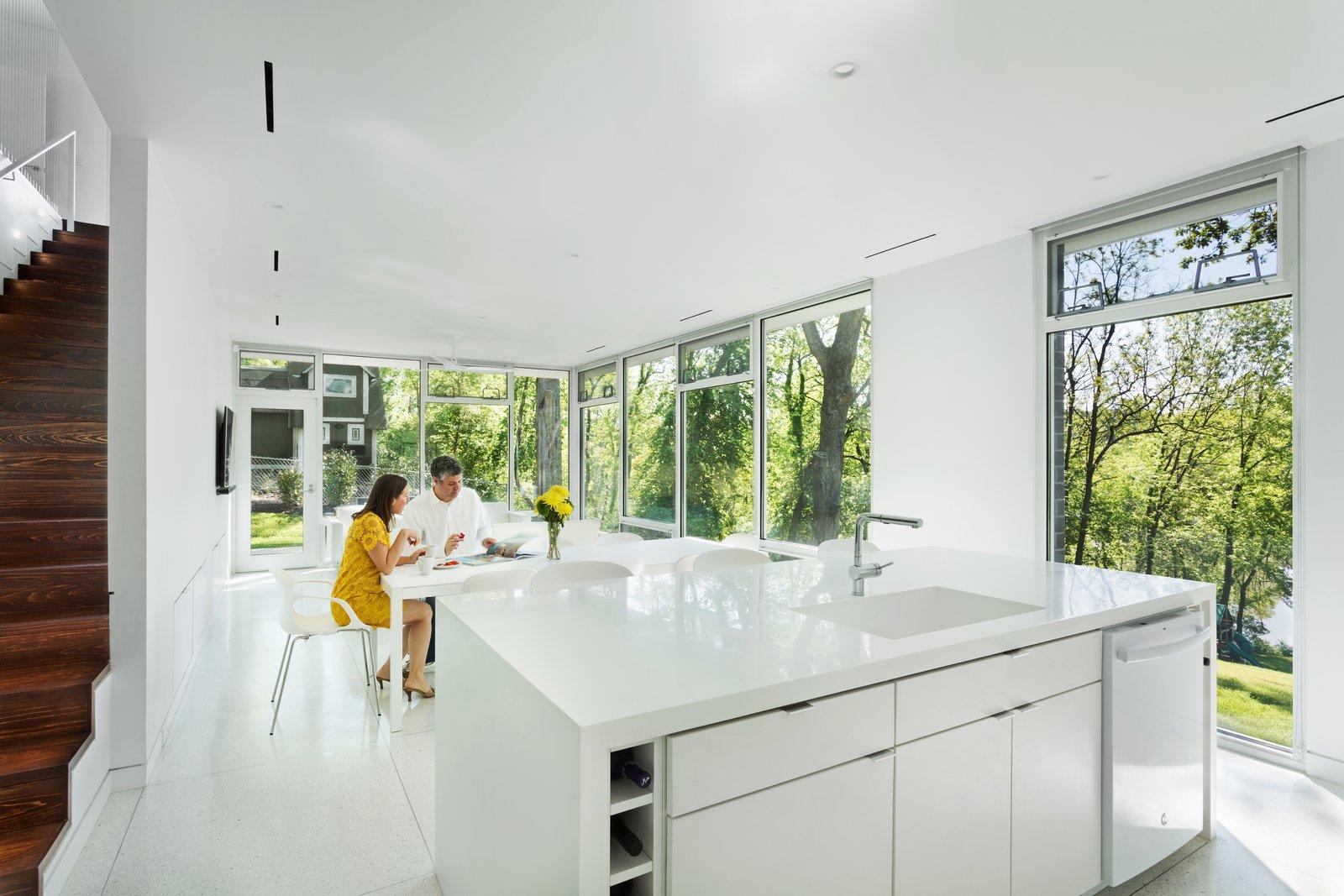 Open floor plan: Kitchen, Dining, & Living Room  Boetger Residence by Chad Boetger