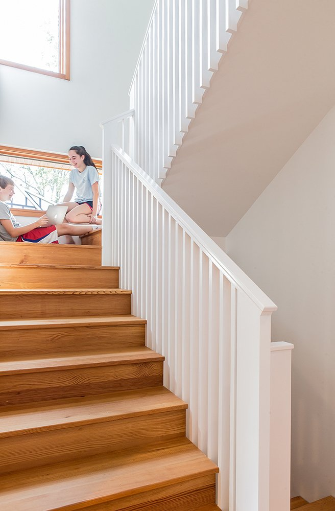 Stairway towards children's room and study  Gable House