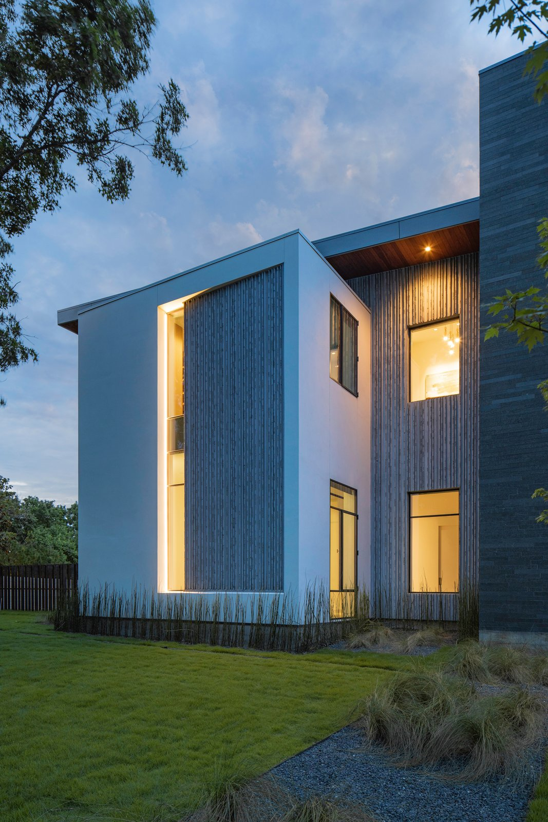 """Exterior, House Building Type, Stucco Siding Material, and Flat RoofLine Taula House by M Gooden Design     """"Slice""""  Taula House by M Gooden Design"""