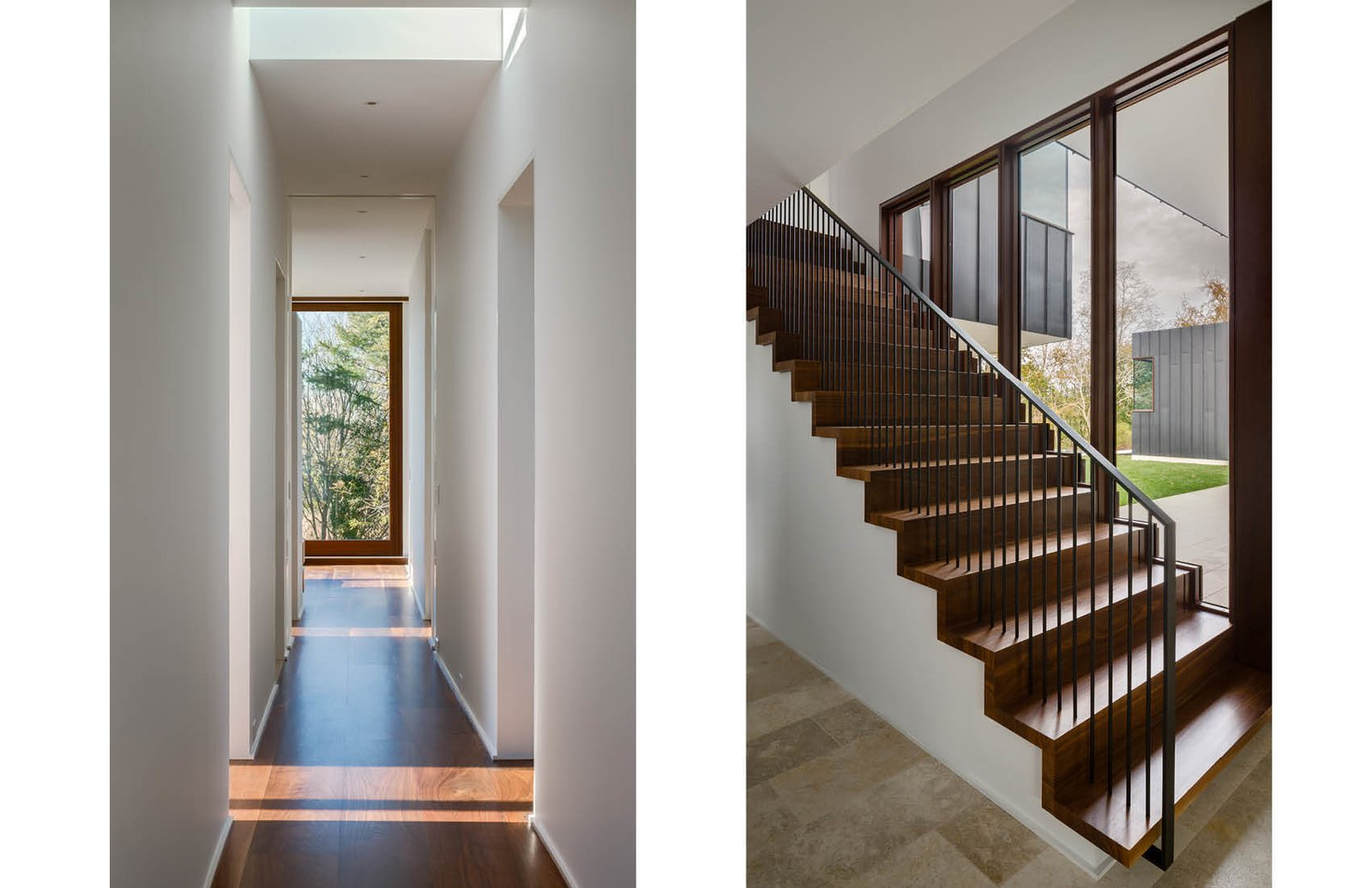 Hall and Stair to Master Bedroom  Watermill House by Office of Architecture
