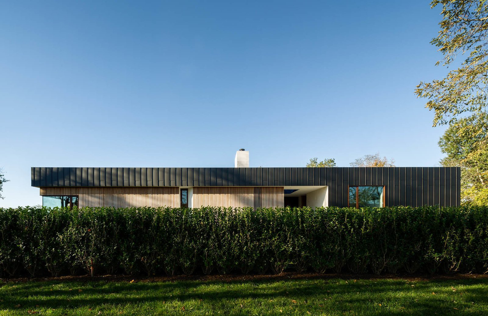 Front Facade  Watermill House by Office of Architecture