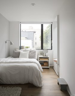 A peek inside the light-filled guest room.