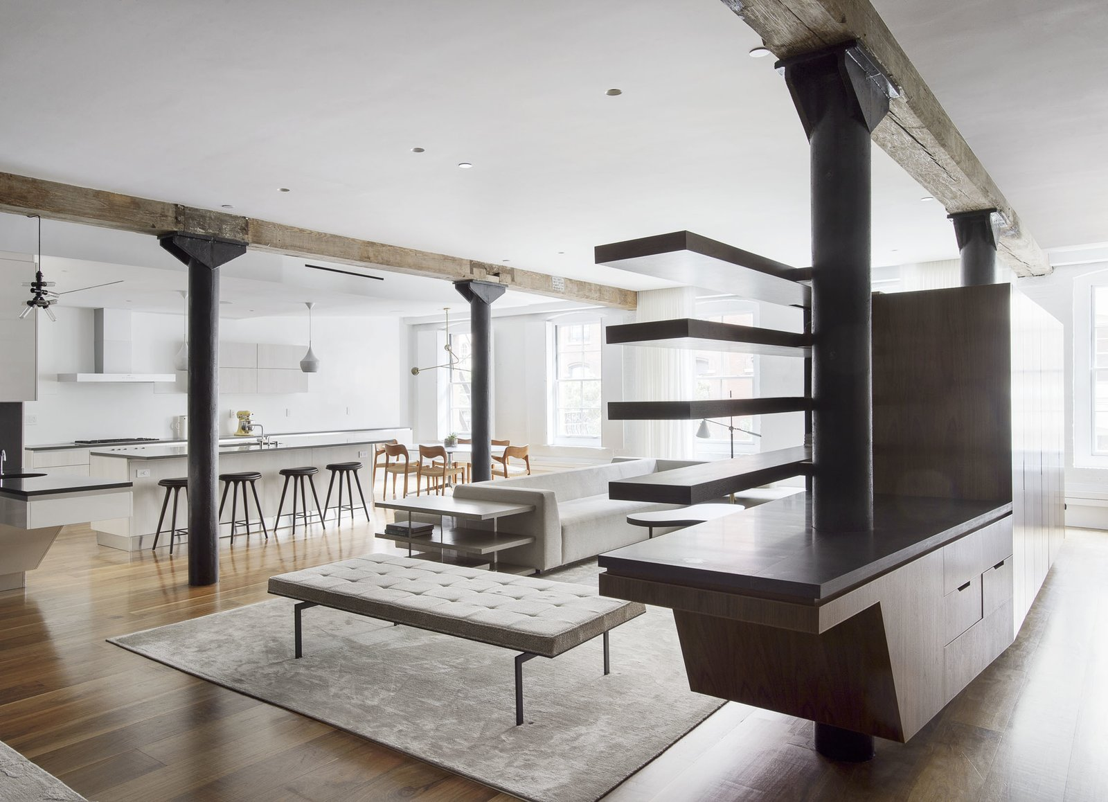 Kitchen Kitchen/Living/Entry  Tribeca Loft by Office of Architecture