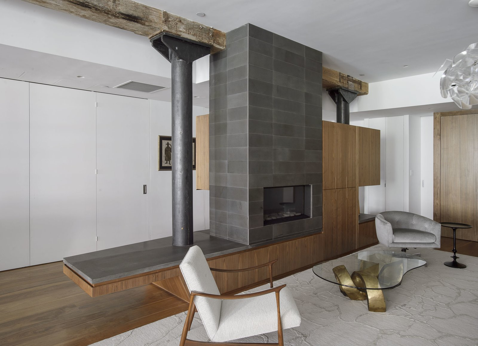 Fireplace  Tribeca Loft by Office of Architecture