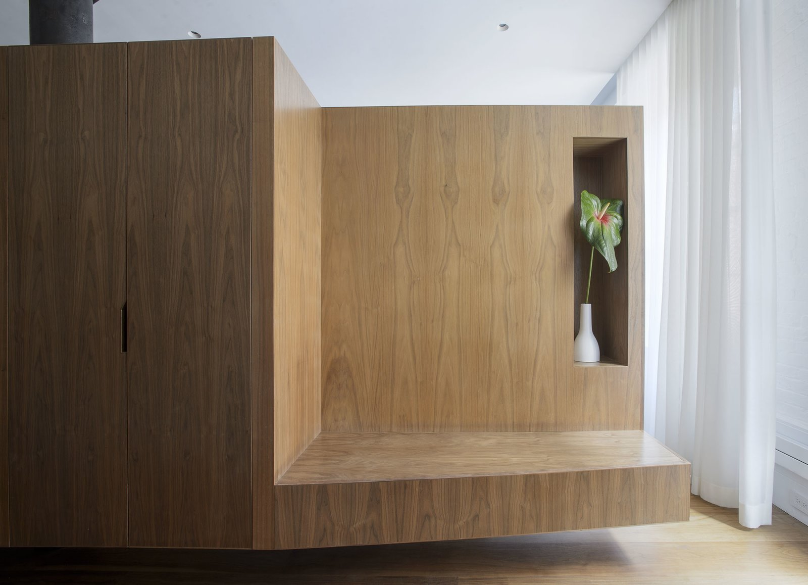 Entry Bench  Tribeca Loft by Office of Architecture