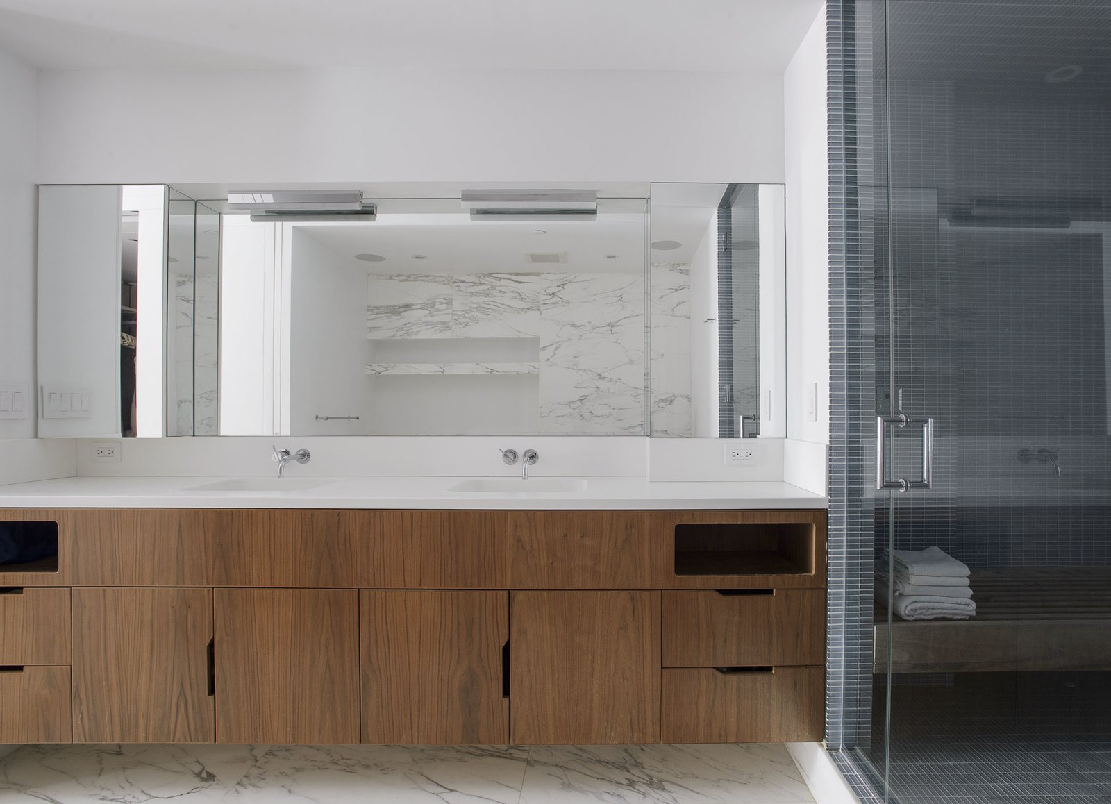 Master Bath Vanity  Tribeca Loft by Office of Architecture
