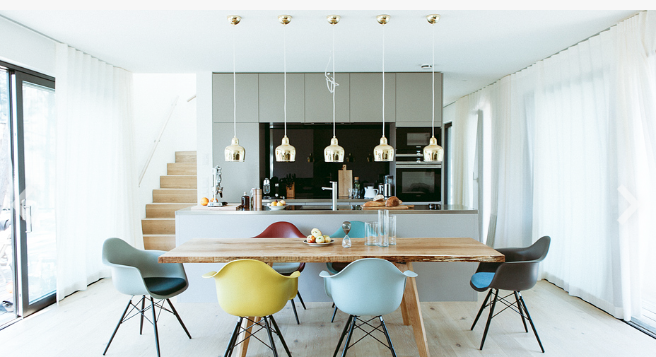 Located on the sandy dunes of the Baltic coast and just a short walk from the beach, the lodges are comprised of two newly-constructed (2016) Tagged: Dining Room, Chair, Table, Pendant Lighting, and Light Hardwood Floor.  Photo 10 of 11 in 10 Modernist Beach Home Rentals to  Escape to This Summer