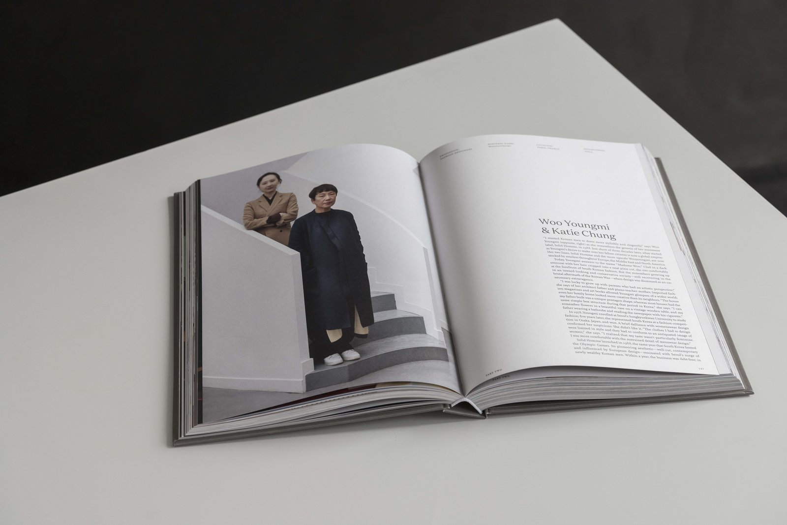 Fashion designers and business partners, Woo Youngmi and Katie Chung  Photo 5 of 10 in Meet 40 of the World's Most Creative Entrepreneurs With Kinfolk's New Book