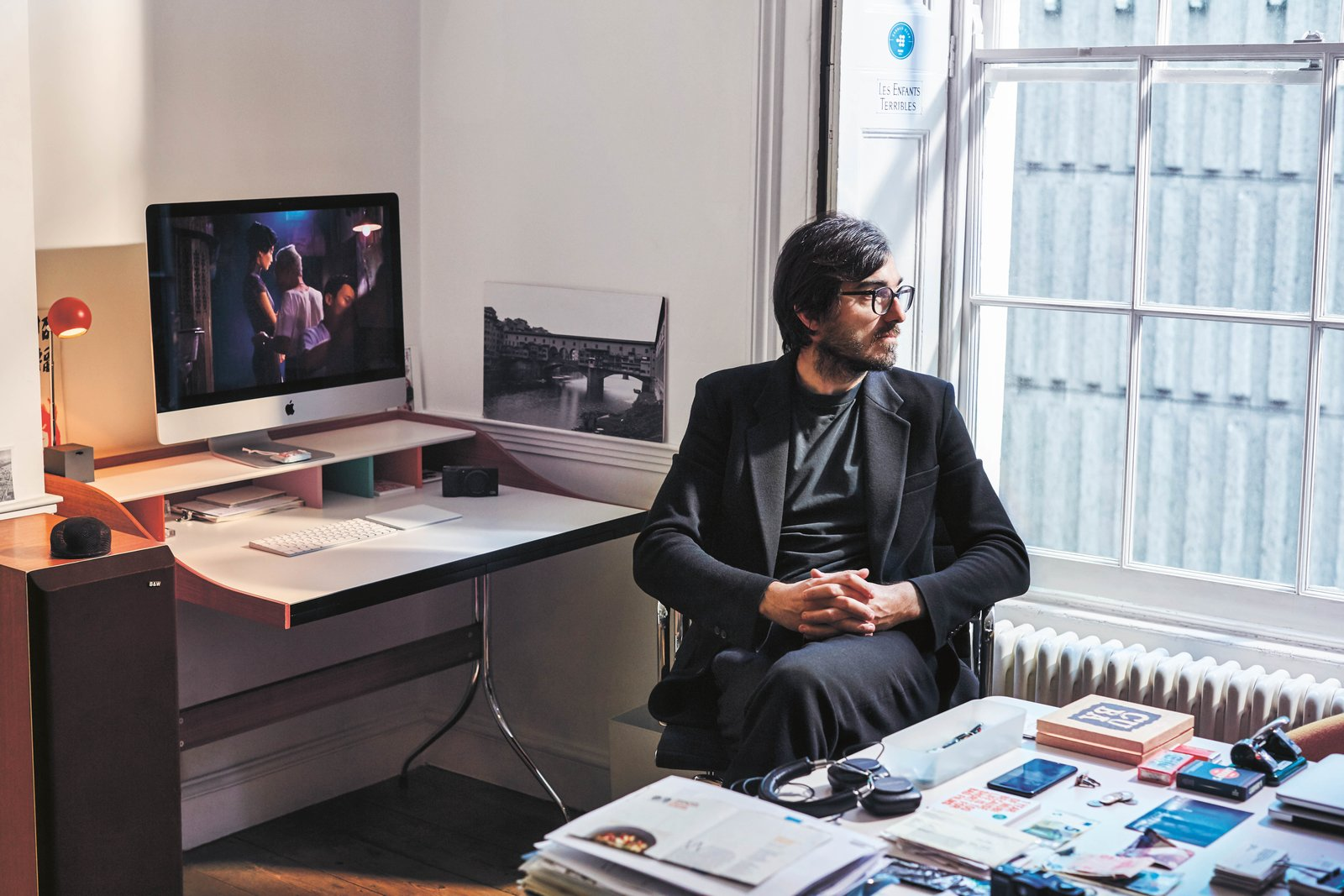 Office, Desk, Chair, and Medium Hardwood Floor Efe Cakarel, entrepreneur and CEO of MUBI  Photo 6 of 10 in Meet 40 of the World's Most Creative Entrepreneurs With Kinfolk's New Book