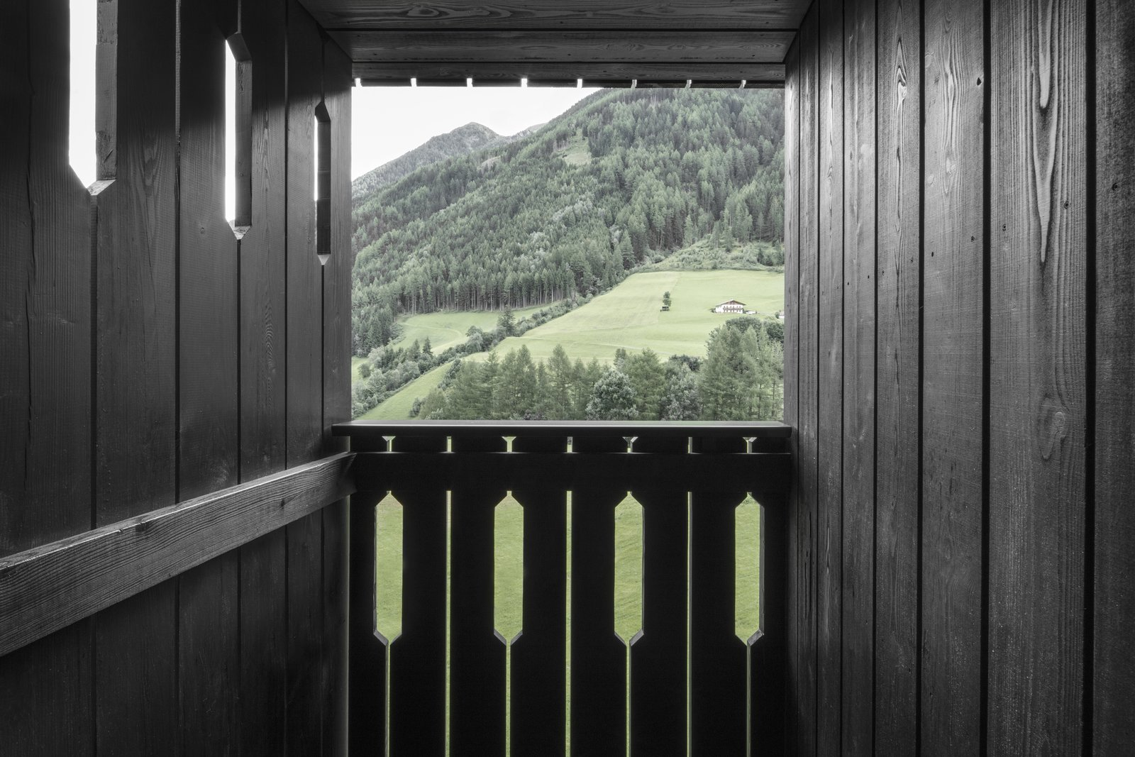 Doors, Wood, and Exterior Hotel Bühelwirt offers travelers the opportunity to experience a modern interpretation of a traditional hiking lodge, in a setting that can only be called sublime.  Photo 9 of 9 in A Dramatic Hotel in Northern Italy Is a Hiker's Refuge