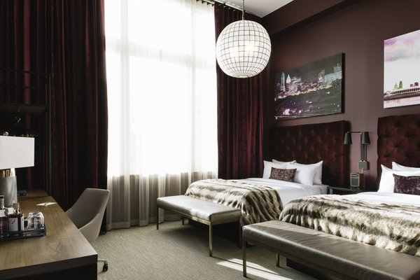 Sleek, stylish vibes await guests in the rooms at Hotel Covington.