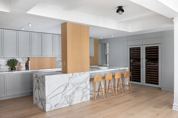 """""""We always prioritize functionality during our pre-design phase. We spend a lot of time learning the cooking style and flow of our clients and take stock of all existing kitchenware,"""" says Christin Stucker."""