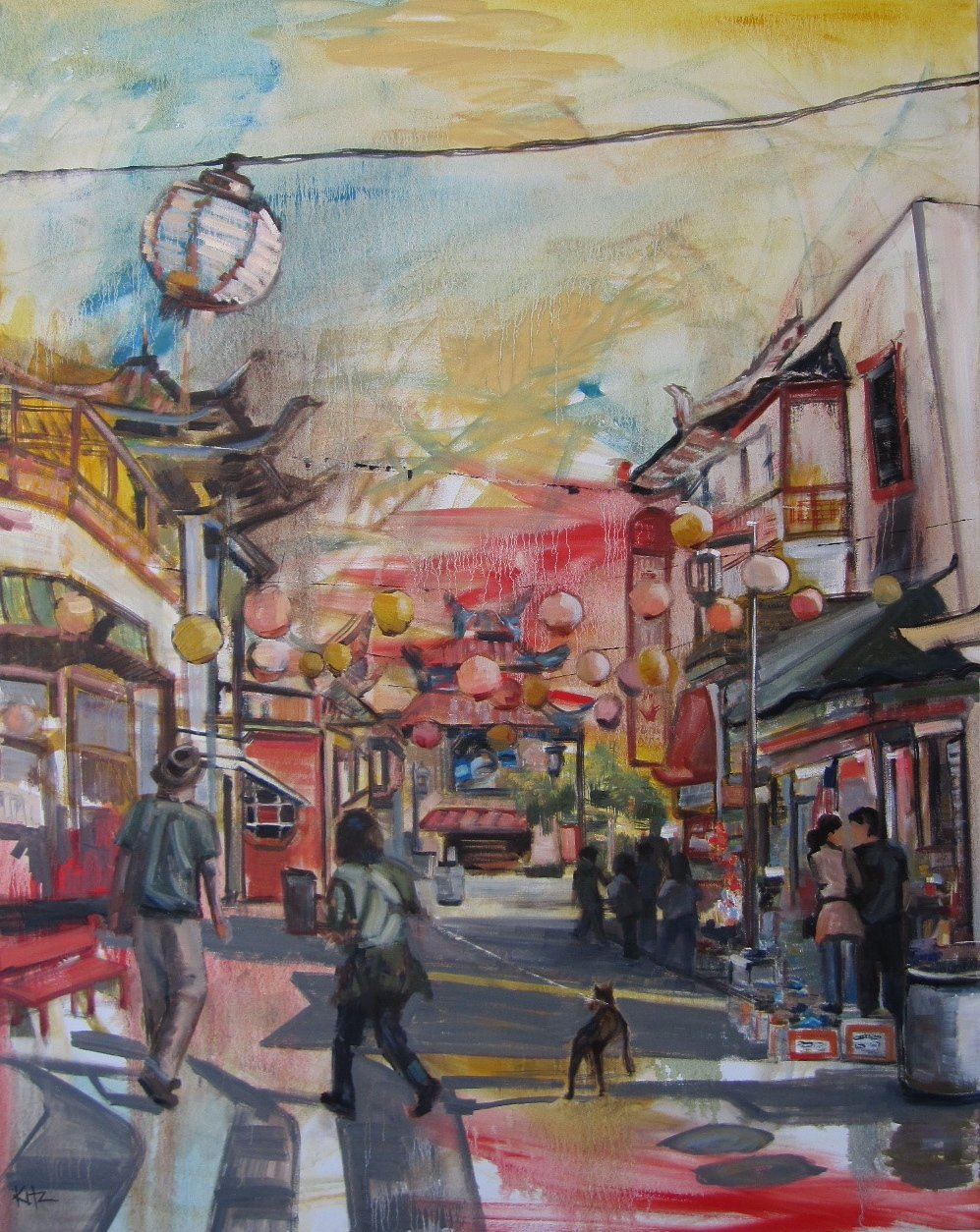 """""""Chinatown"""", by Kim Ford Kitz  Figurative Paintings"""