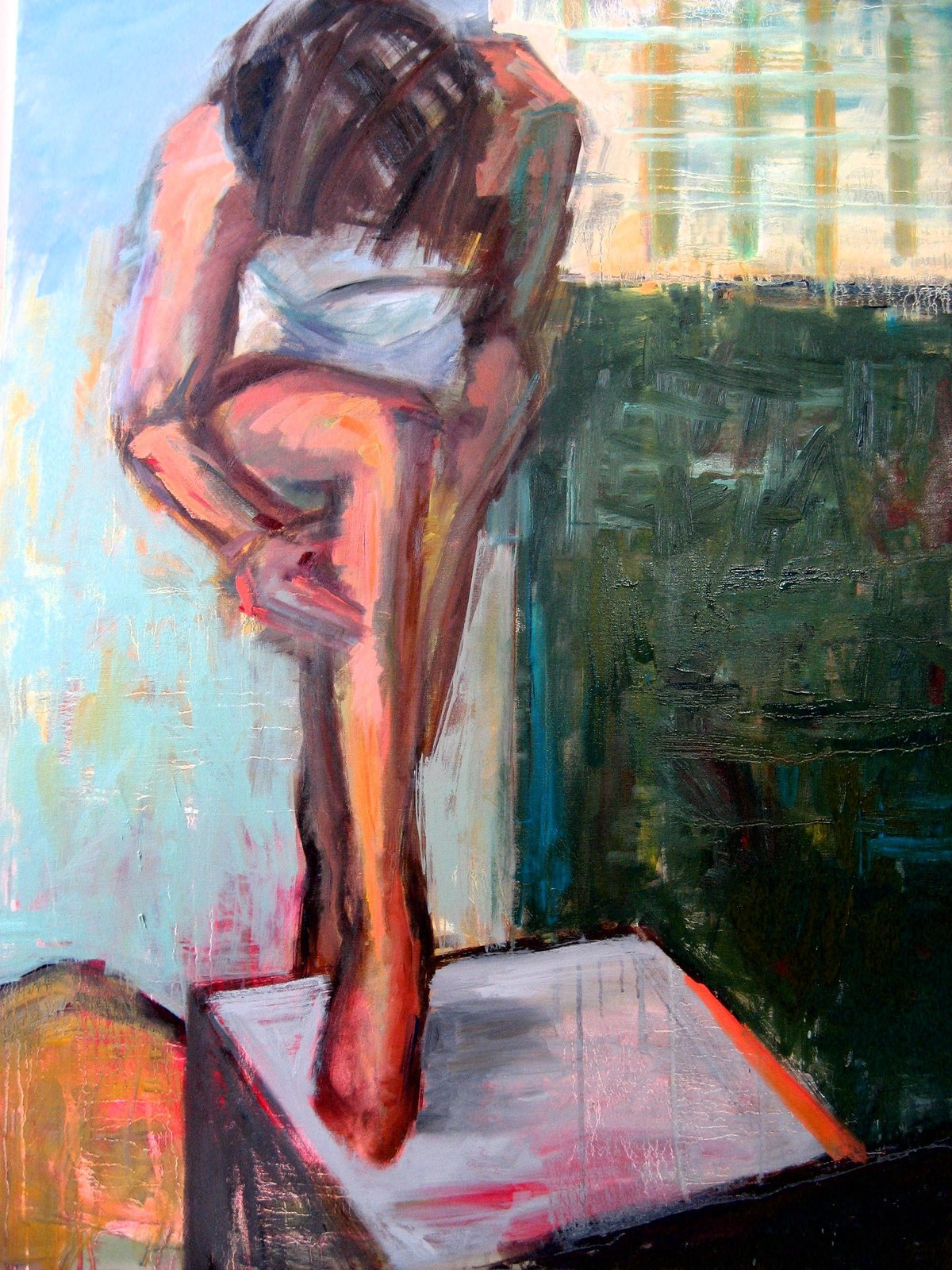 """""""Spa Day"""", by Kim Ford Kitz  Figurative Paintings"""