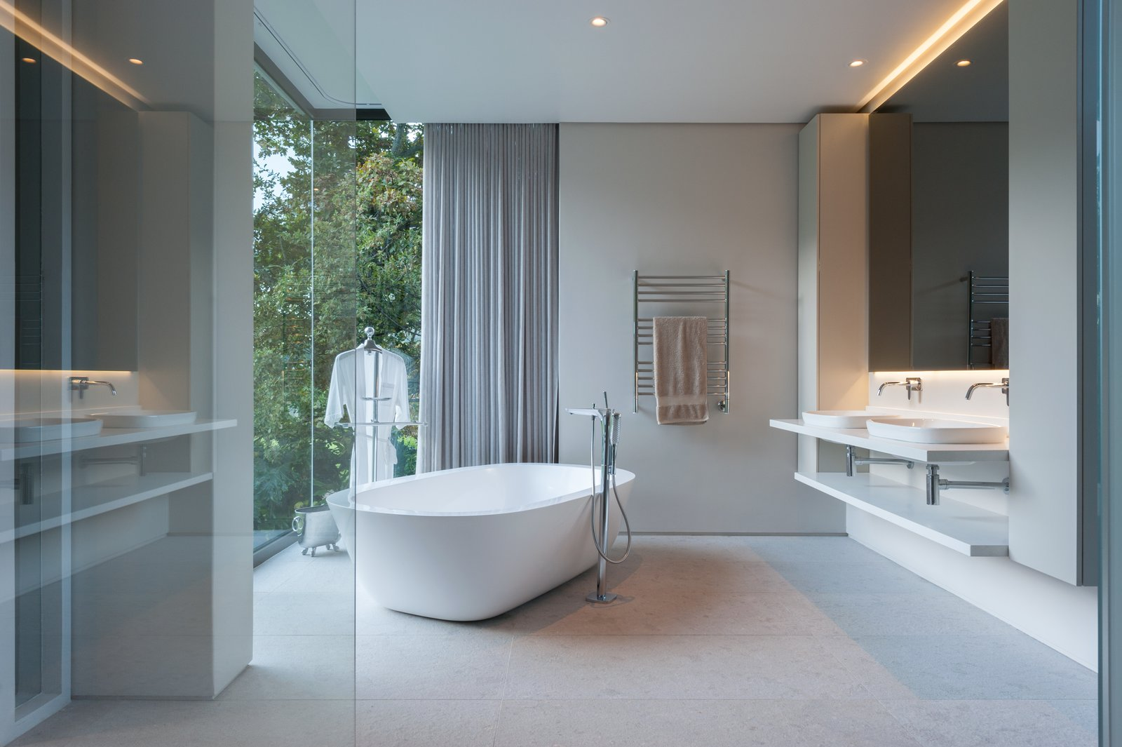 Bathroom with a view to die for  Lords House