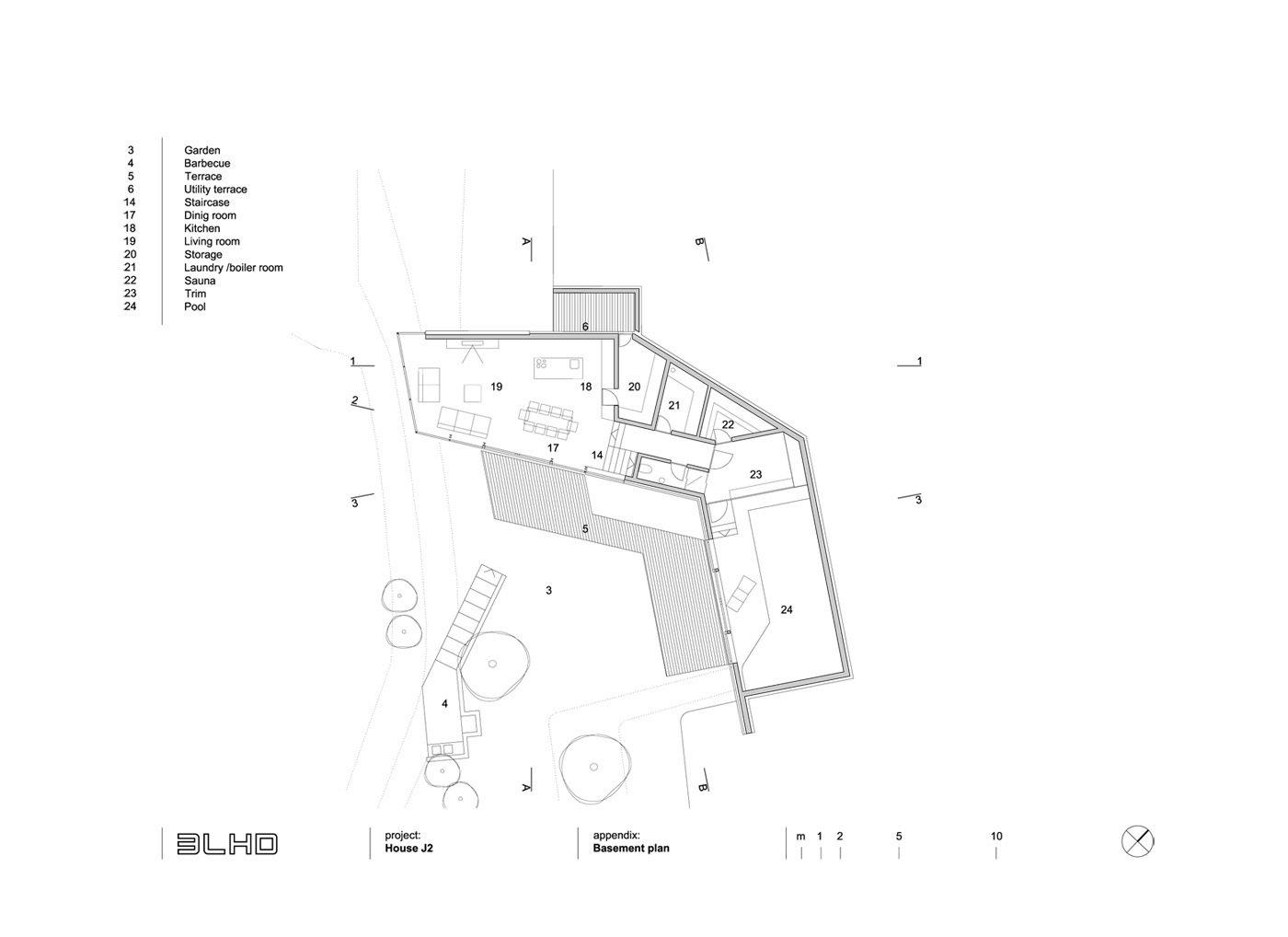 Basement floor plan  House J2 by 3LHD