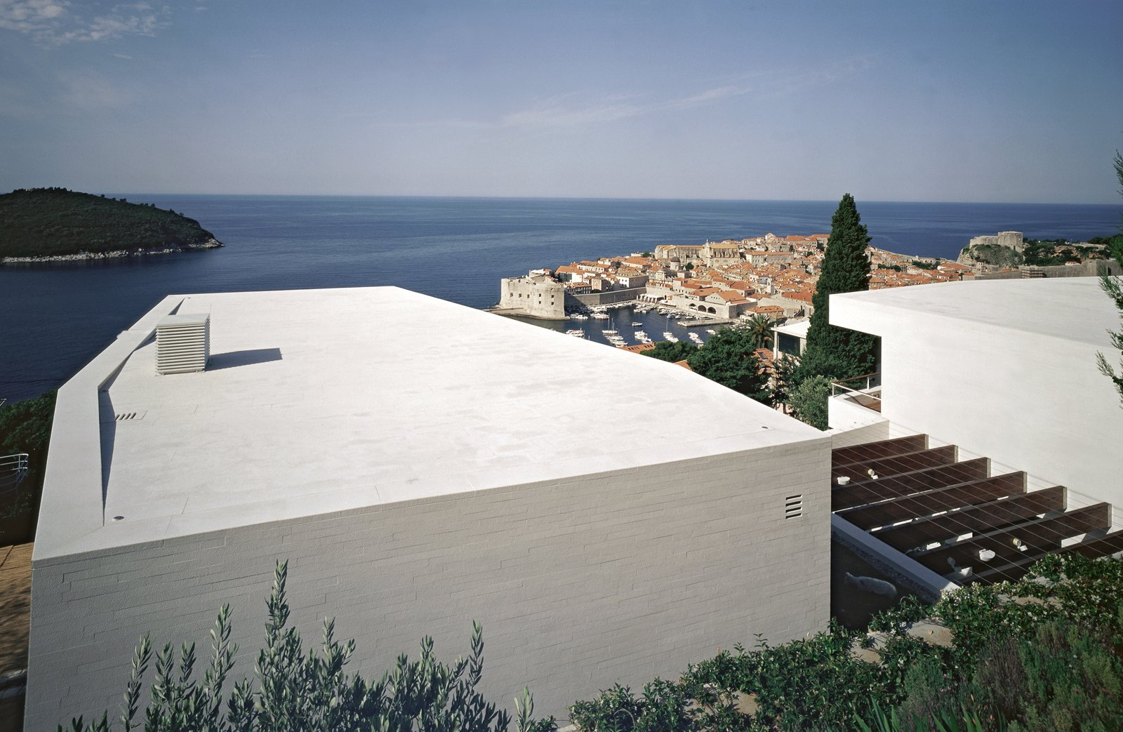 View of the house and Dubrovnik in the background  House U by 3LHD
