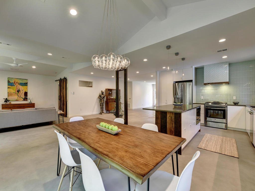 Great Room  Langston Remodel by Davey McEathron Architecture
