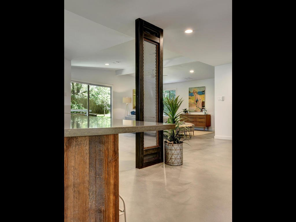 Custom Fabricated Steel Column  Langston Remodel by Davey McEathron Architecture