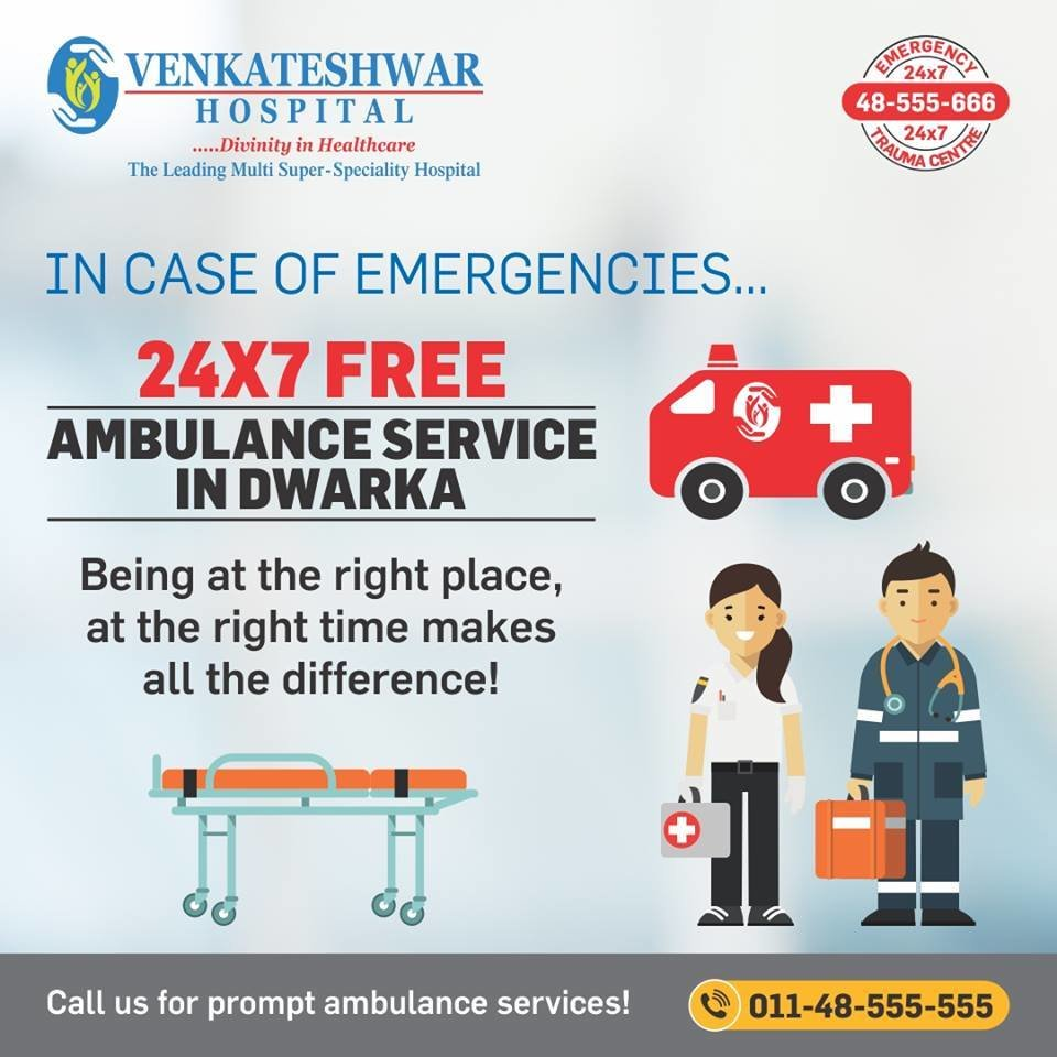 24*7 Free Ambulance Service in Dwarka   Health Services