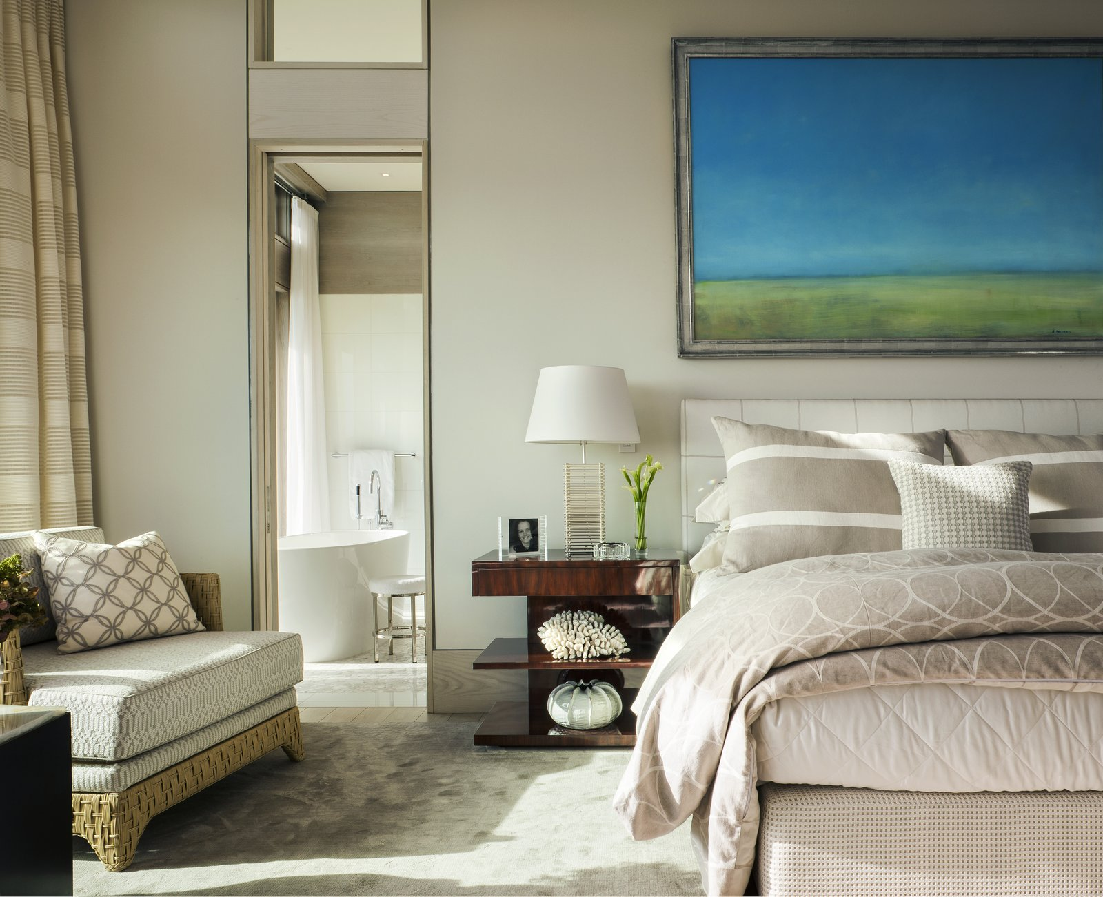 A sumptuous master suite located on the main floor.  The Cape