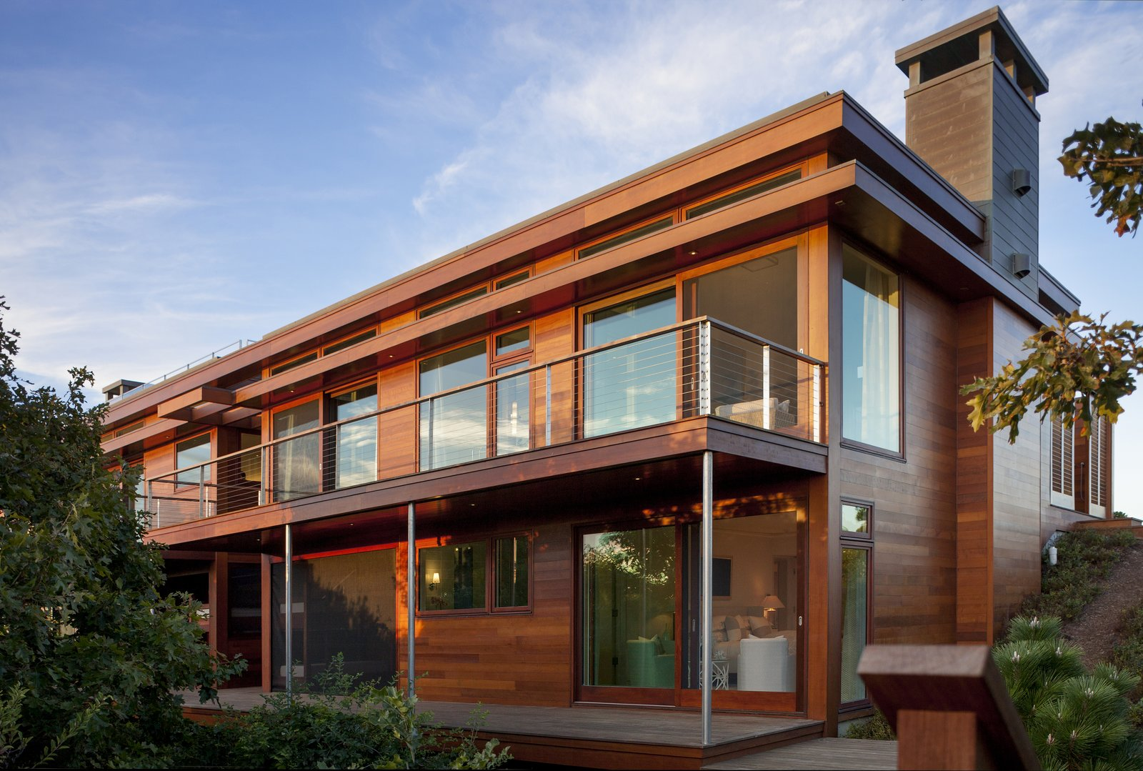 Walls of glass and red cedar define the exterior  The Cape