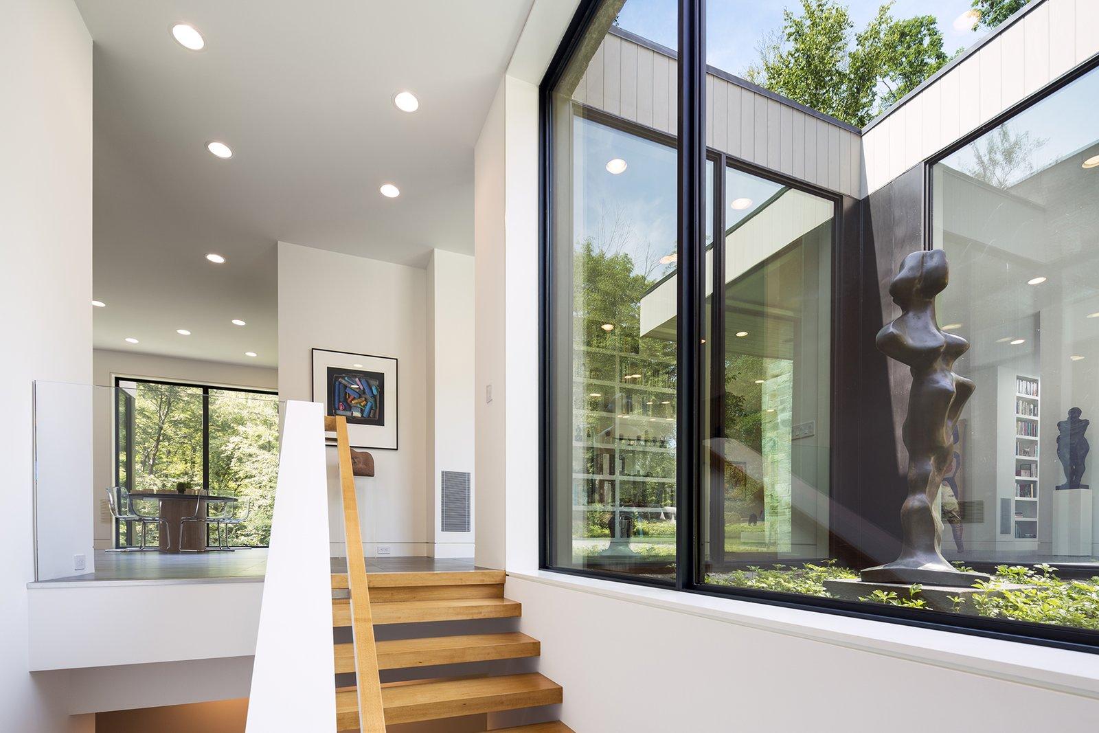 Art House 2.0 Interior: Stairway, Sculpture Garden  Art House 2.0