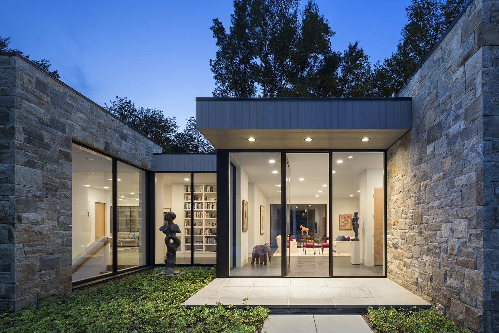 Art House 2.0 Exterior: Main Entrance with Sculpture Garden  Art House 2.0