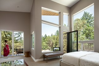 Master bedroom with large views.