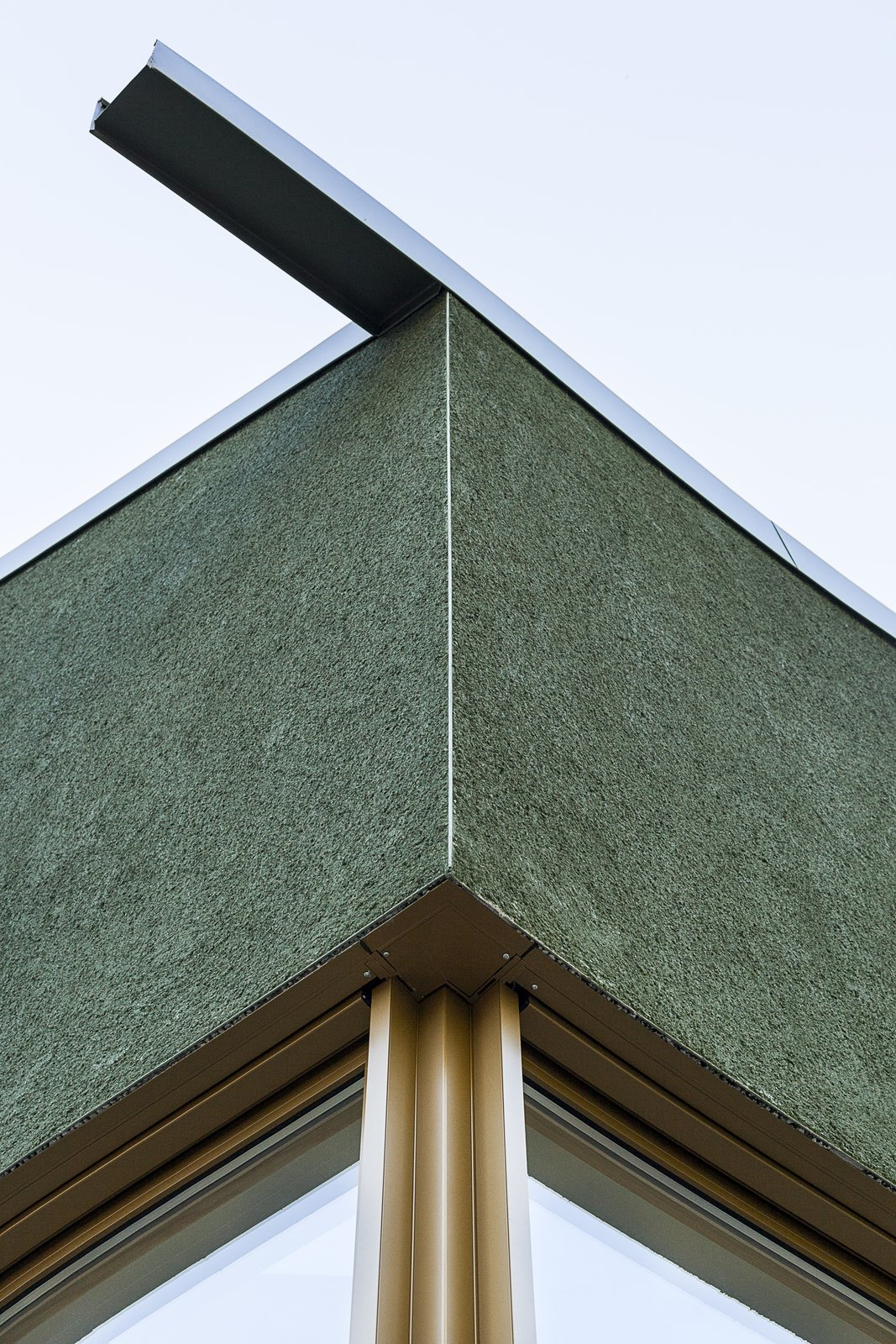 Exterior rainwater spout detail  Haus P by Project Architecture Company