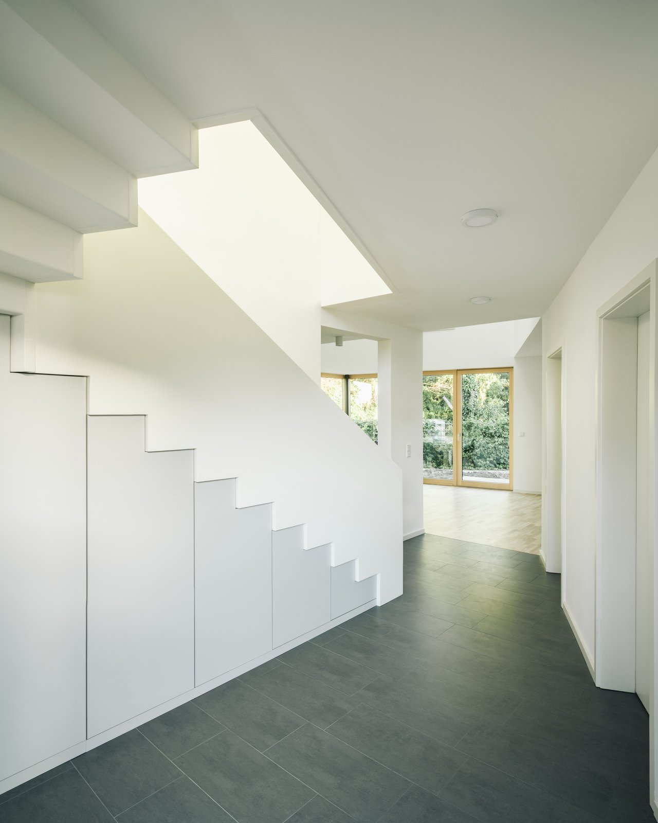 Hallway and Ceramic Tile Floor entrance area  Photo 5 of 5 in Top 5 Homes of the Week With Sublime Staircases from Haus P
