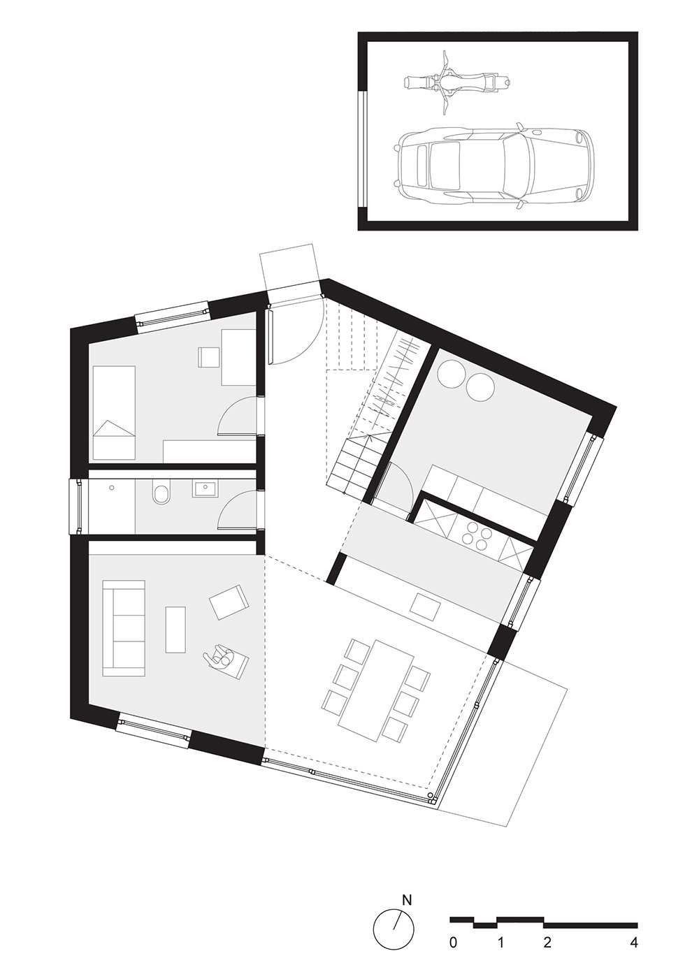 ground floor plan  Haus P by Project Architecture Company