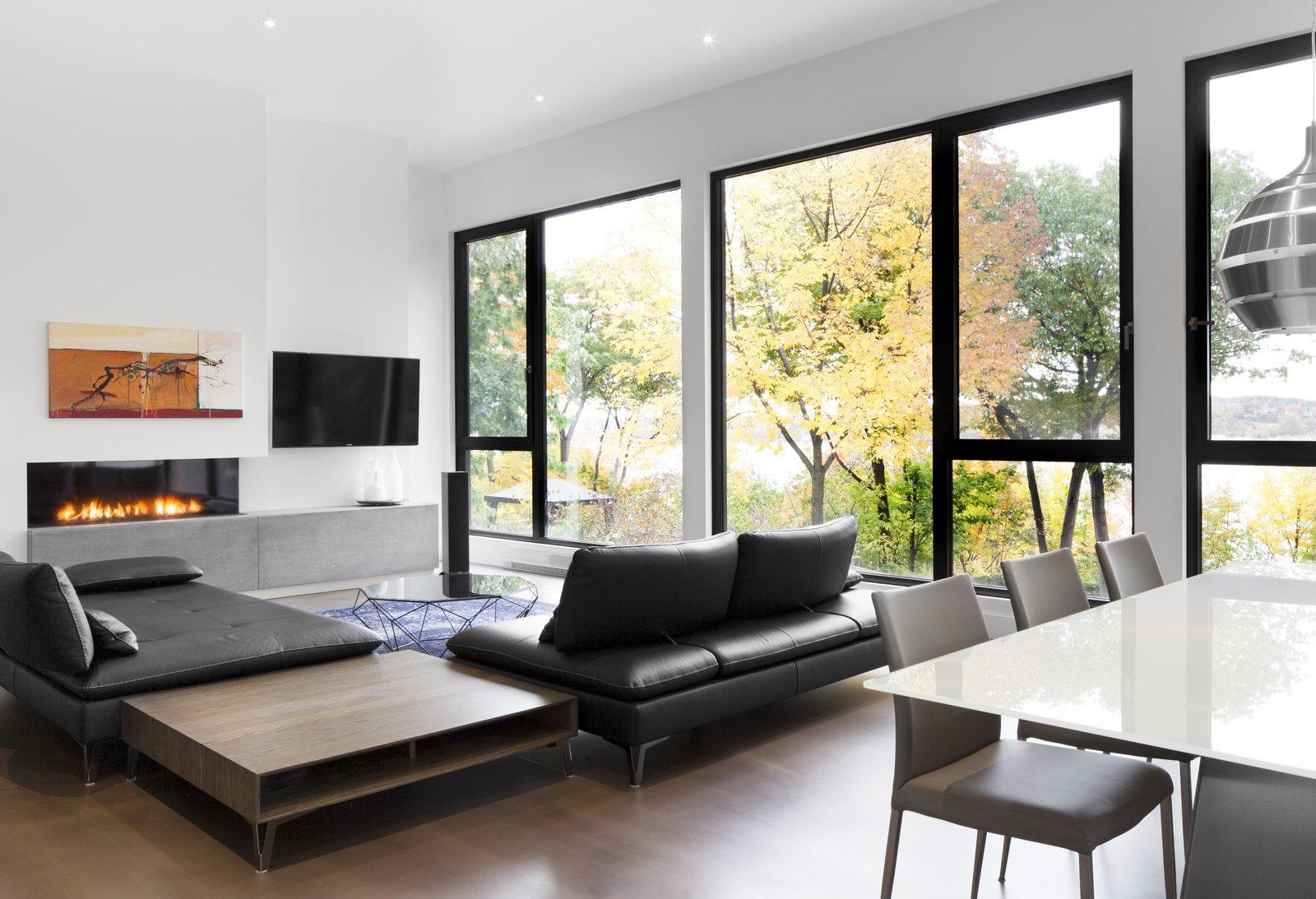 Living room at Rue de l'Anse residence - PARKA Architecture & Design - Quebec city, Canada  Rue de l'Anse residence by PARKA - Architecture & Design