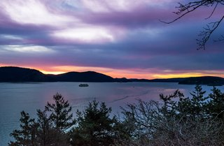 Spectacular Sunrises -  Watch the San Juan Ferries Go By