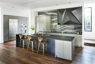 Custom steel vent hood designed by West Architecture Studio and fabricated by Luke Prestridge.