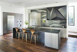 Custom steel vent hood designed by West Architecture Studio and fabricated by Luke Prestridge.