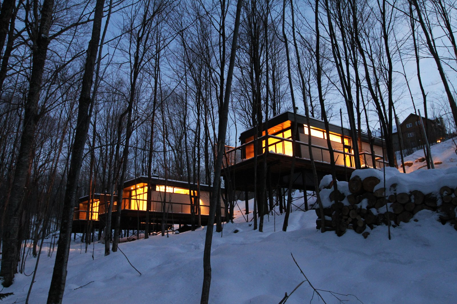 Winter Exterior Shot  SHAK Cottages