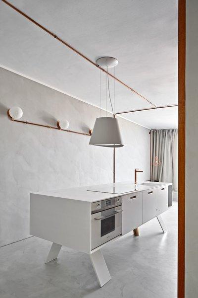Corian Countertop, Arredo3 Kitchen cabinets  and custome made legs