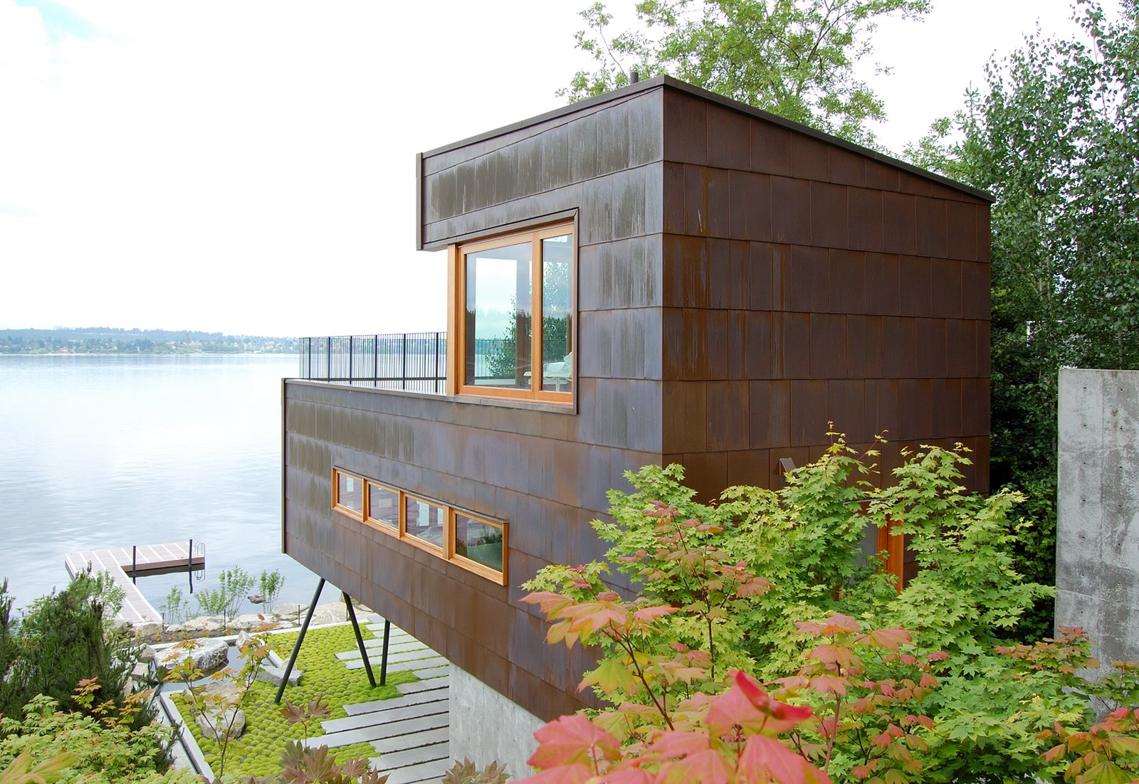 Exterior and Metal Roof Material Guest House on a Lake in Mercer Island, Washington  Guest House on a Lake by Robert Hutchison Architecture